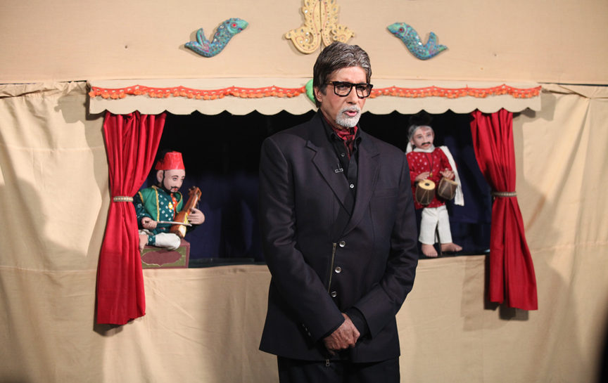Amitabh Bachchan on Kaun Banega Crorepati introducing Traditional Indian Puppets presented by Puppeteer Satyajit Ramdas Padhye and his team